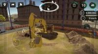 建筑模拟2-卡特彼勒349F挖掘机在建筑工地工作