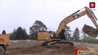 实拍: 卡特349E挖掘机挖土装车过程