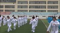 甘肃两当彩蝶晨曦健身队队员在学练三十七式太极拳