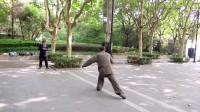 刘文波先生来交流演练杨式太极刀