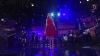 【欧美娱乐】红裙金发的泰勒太美了! Taylor Swift - Love Story纽约现场版