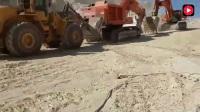 工地上的日立挖掘机坏了, 看看是怎么移走的