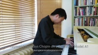 Raymond Yiu 在白色贝希斯坦A型钢琴演奏肖邦曲