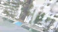 无人机航拍被消防车高压水枪打中了