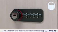 Dial Lock 58 - 重设密码情况下应急开启 - 直到 08/2017