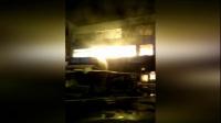 库房起火整栋楼陷火海 大火持续六小时