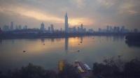 无人机航拍南京市玄武湖