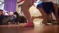 比基尼美女 练瑜伽失误 频频出糗_标清