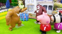 小猪佩奇之公园郊游, 玩丢手绢游戏, 小猪佩奇玩具故事