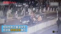洒水后路面结冰打滑?骑车学生被碾身亡