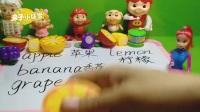 002亲子游戏 美人鱼公主水果切切看 粉红猪小妹猪猪侠蔬菜切切看玩具游戏