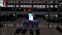 联建光电旋转创意魔方屏亮相重庆高铁站