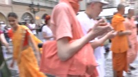 HH Kadamba Kanana Swami - harinam in Prague, 23.05.2014