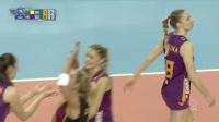 12月15日女排欧冠小组赛第1轮瓦基弗银行vs加拉塔萨雷(CEV原音)