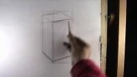 素描基础素描cut素描静物素描头像素描几何体素描苹果 素描教程素描入门 素描几何形体第二讲2:长方体的起稿67素描少女