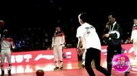 李易峰现身CBA全明星赛 帅气投篮大秀球技