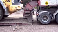 沃尔沃大卡车运输挖掘机, 还可以升降轮子