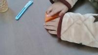 折纸小白教你半张纸折的手抢