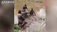春节错车互不相让 司机打架打到水田里 多人变泥人