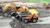 小松PC3000 矿用正铲挖掘机装载D375A自卸车