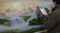 2018年2月份手绘山水风景油画-聚宝盆风水画
