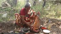 印度老奶奶, 又买来一条大鱼, 看看她是什么吃法