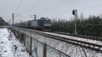 K124次 HXD3C0109 通过沪昆线K146KM斜桥师古桥