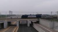 电力51637 HXD1B0583 通过嘉兴槜李路公铁立交