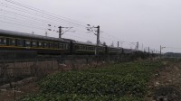 K496次 六盘水--上海南 HXD1D0106 通过嘉兴槜李路公铁立交