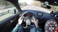 400马力的奥迪RS3提速有多快? 飙到290那刻才知道啥叫西装暴徒了