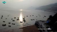 航拍福建霞浦东壁湾紫菜生产基地及海天滩涂风光