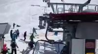 格鲁吉亚滑雪场缆车失控!