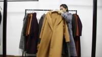 精品女装批发服装批发女士时尚长款百分百双面羊毛大衣清货20件起批,可挑款零售混批