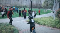 2018年3月17日蔷薇园湿地公园小黑马平衡车俱乐部骑行活动