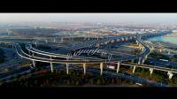 航拍上海北翟立交 延时摄影