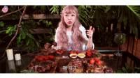 【大胃王mini】吃5份T骨牛排迎接春天,真是一片万物复苏生机勃勃之景!