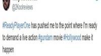 《头号玩家》太震撼网友请愿美国好莱坞拍《高达》真人版