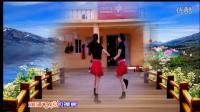 兰心蝶舞广场舞双人水兵舞《拉萨夜雨》编舞:一 莲