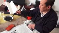 大城县杜文甫书法创作 毛泽东词 沁园春 雪 杜铁林摄录