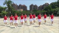 原创广场舞《听心》附背面及教学,演示:盛开红色娘子军健身队