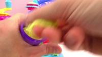 Play Doh 培乐多 彩泥 炫酷 粘土  制作 杯子蛋糕旋转木马 套装 玩具组 手工 制作 展示