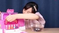 小伶玩具之染色的指甲片, 可以简单的用水清洗干净, 再次使用