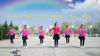 中卫体育馆广场舞  一曲相送  正面  团队版