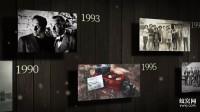 B925 AE模板 企业个人回顾发展历程大记事历史年代照片相册墙展示视频制作