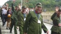 新兴县参战老兵:军民联欢足迹游