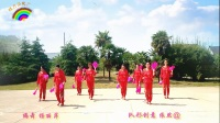 蝶舞清风广场舞《山里人乐的好潇洒》扇子舞8人变队形