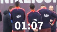 【黑豹足球】巴塞罗那备战联赛  皮克若有所思, 梅西苏牙脸色阴沉  队友苦等3分钟