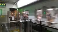 上海地铁2号线204号车东昌路站上行出站(广兰路站方向)