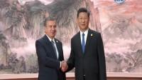 习近平欢迎出席上海合作组织青岛峰会的外方领导人 180610