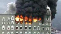 温州大学城茶山镇上教堂火灾1